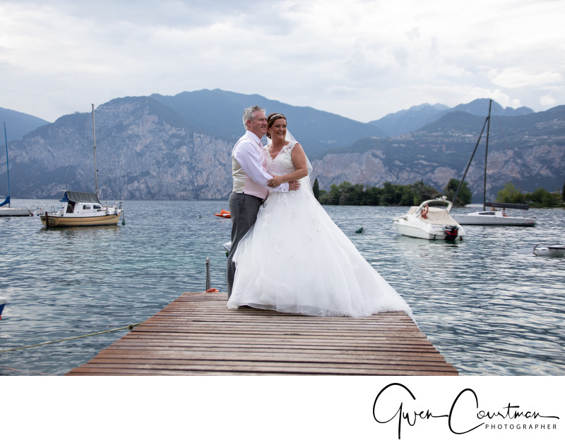 Charlotte and Jason Malcesine, Lake Garda, Italy