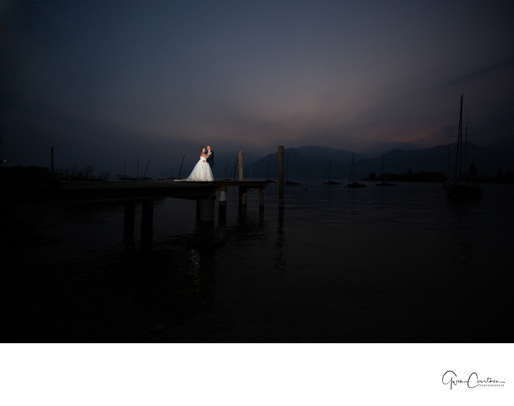 Night Romance on Lake Garda.
