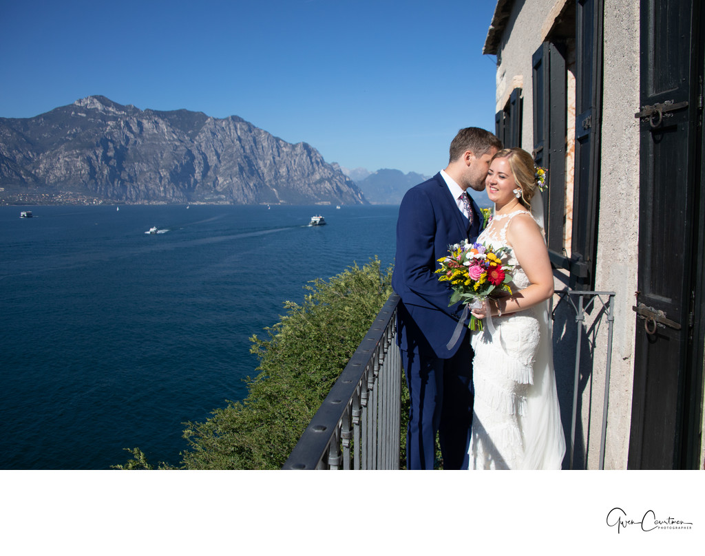 Stunning wedding venues and photos Malcesine, Italy.