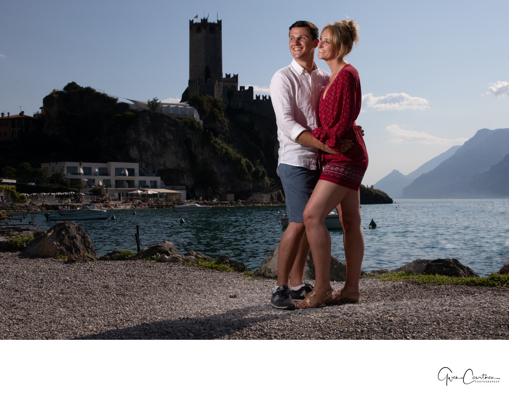 Emma and Darren's Engagement Photo Shoot in Malcesine