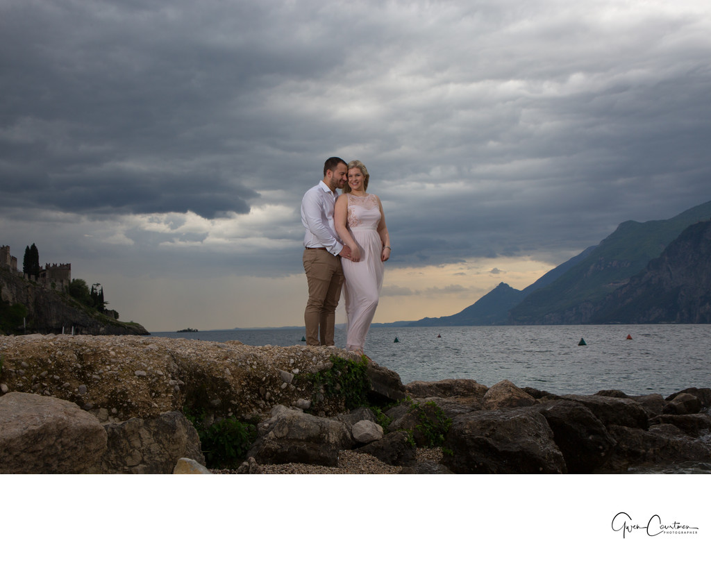 Awe-inspiring Engagement Photography in Malcesine Italy