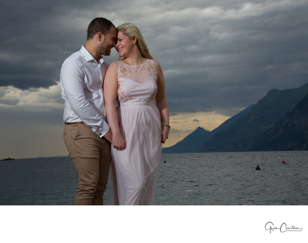 Spectacular Engagement Shoot on Lake Garda