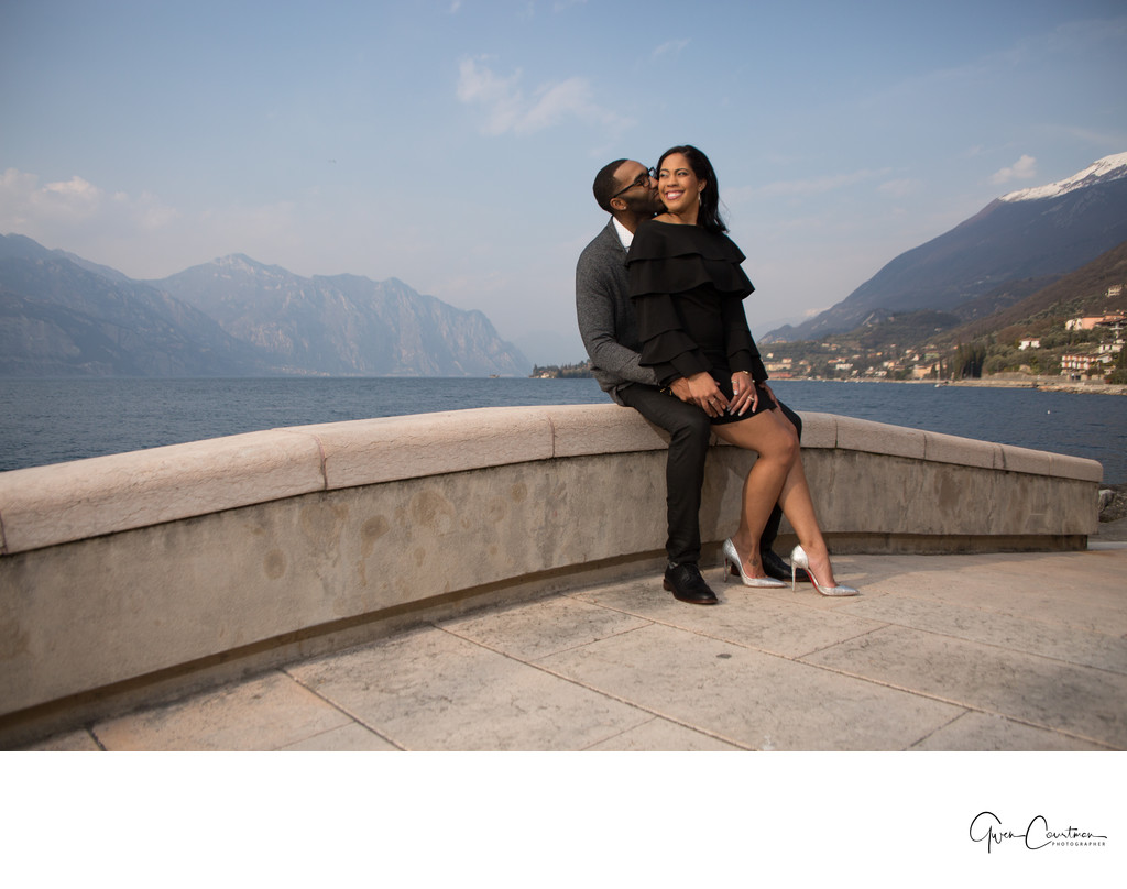 Engagement photos in Malcesine . Love in Italy.