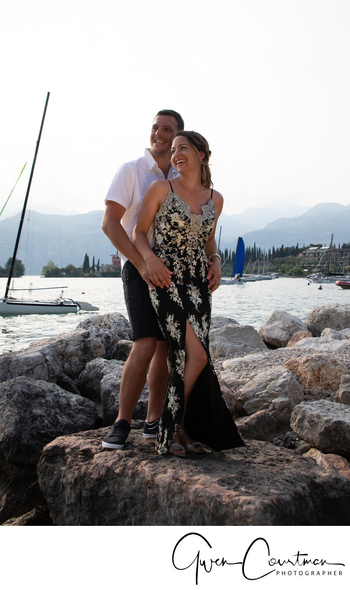 Carla and Marc's 1 year anniversary photo shoot in Malcesine