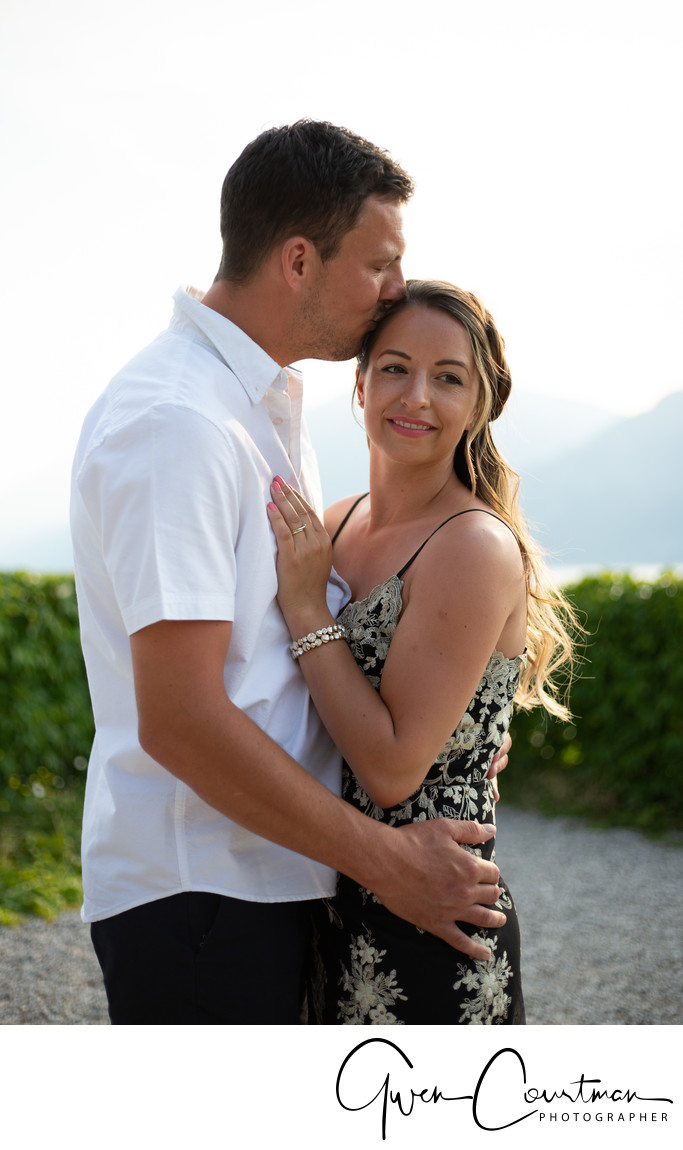 Carla and Marc's 1 year anniversary photo shoot on Lake Garda