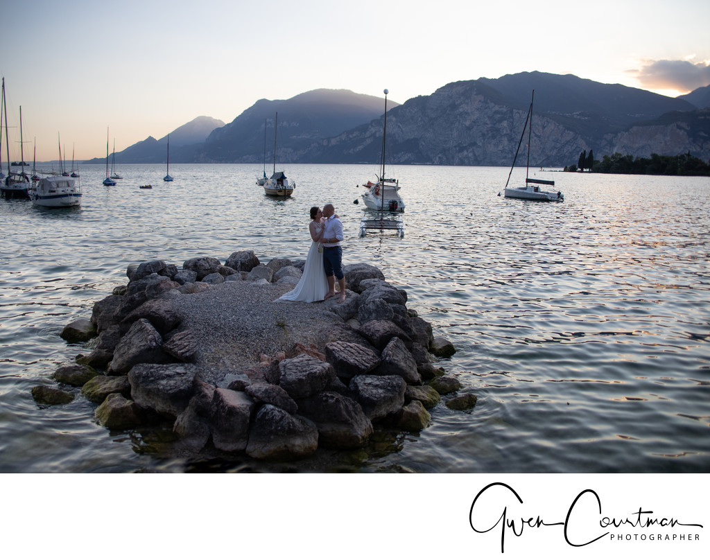 Penny & James Beautiful Wedding Photos on Lake Garda