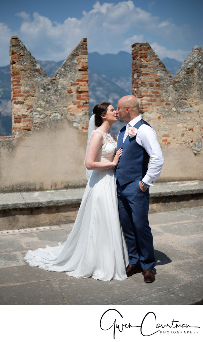 Penny & James, Malcesine Castle Wedding.