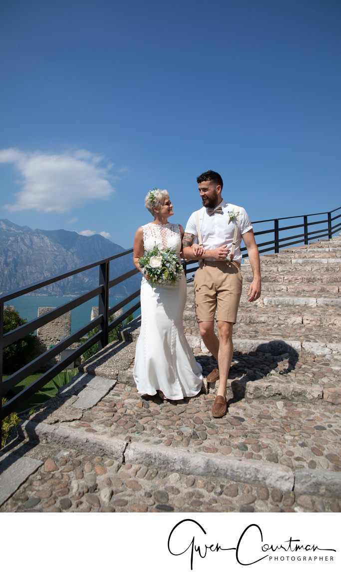 Em and Tom , Wedding Malcesine Castle, Lake Garda, IT