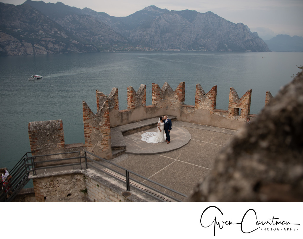 Outstanding beauty, Malcesine Castle Wedding.