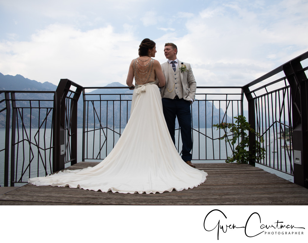 Gemma and Jay marriage, Lake Garda, Italy