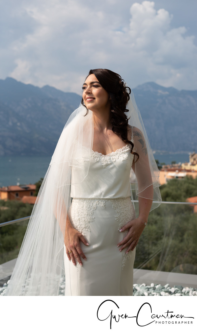 Beautiful Bride in Malcesine, Chantelle