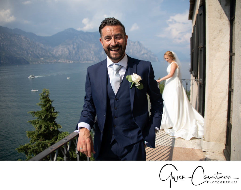 Glorious and happy Malcesine Castle Wedding