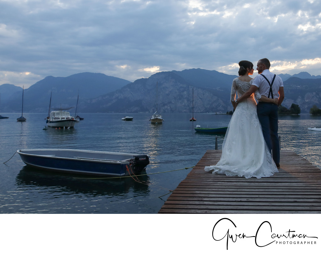 British Wedding Photographer In Malcesine, Italy
