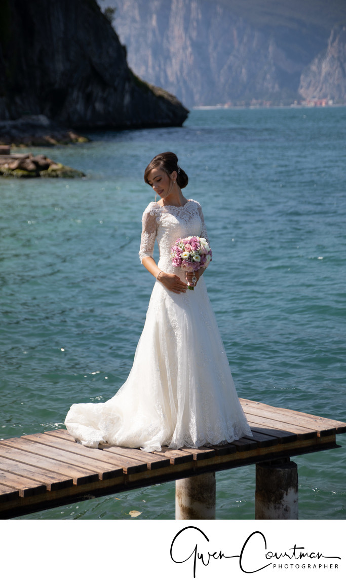 Wedding photos Hotel Castello Malcesine Jetty