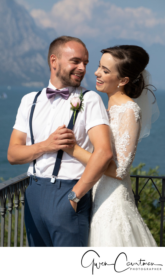 Lisa & Josh Wedding  Malcesine Italy.