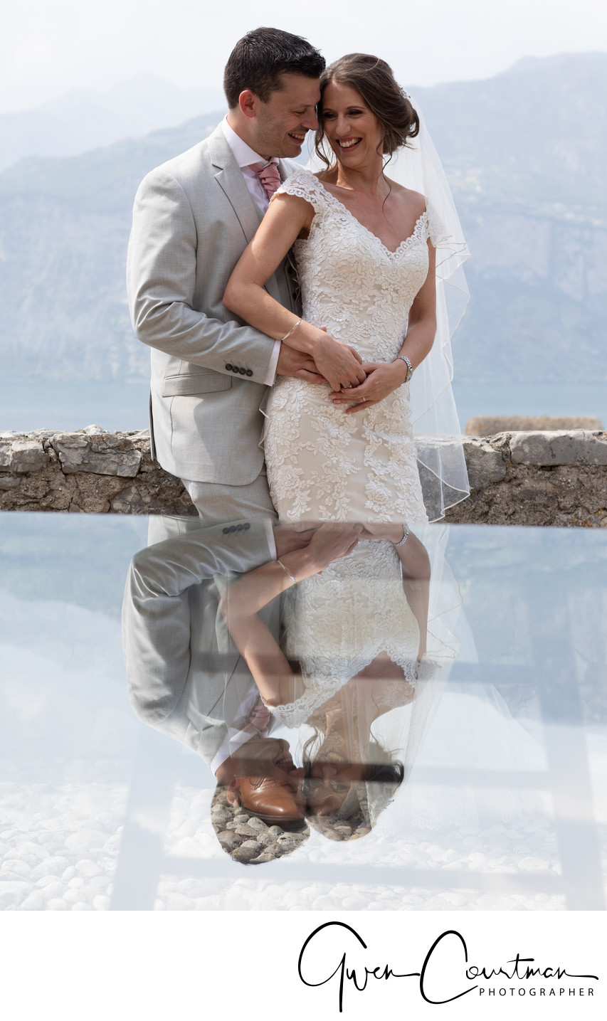 Fun, intimate moment photos, Lake Garda, Italy.