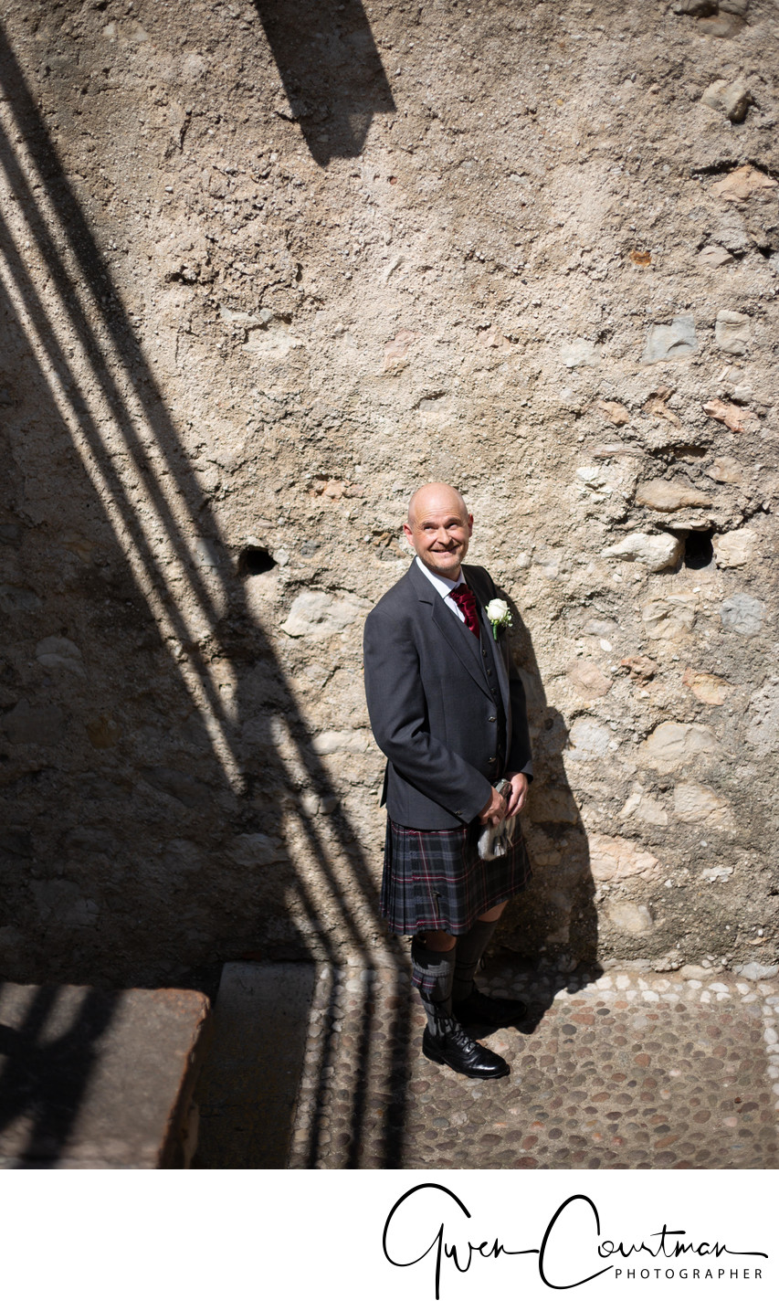 The Groom Graeme in Malcesine Castle , Lake Garda, IT