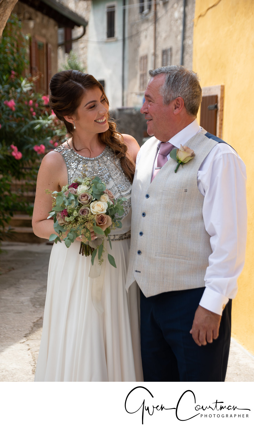 Gemma and Dad, Malcesine, Italy
