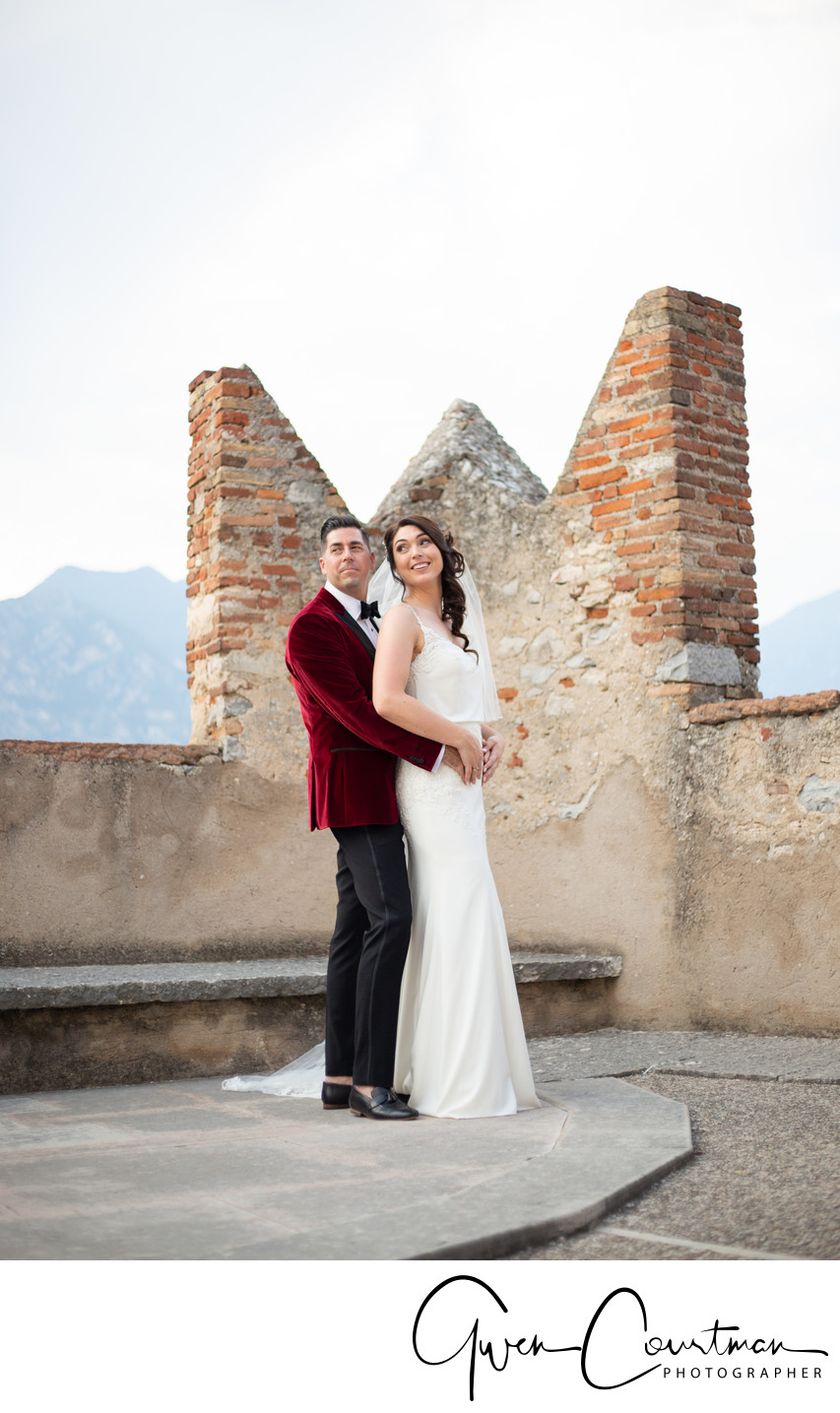 Malcesine Castle wedding venue, Lake Garda
