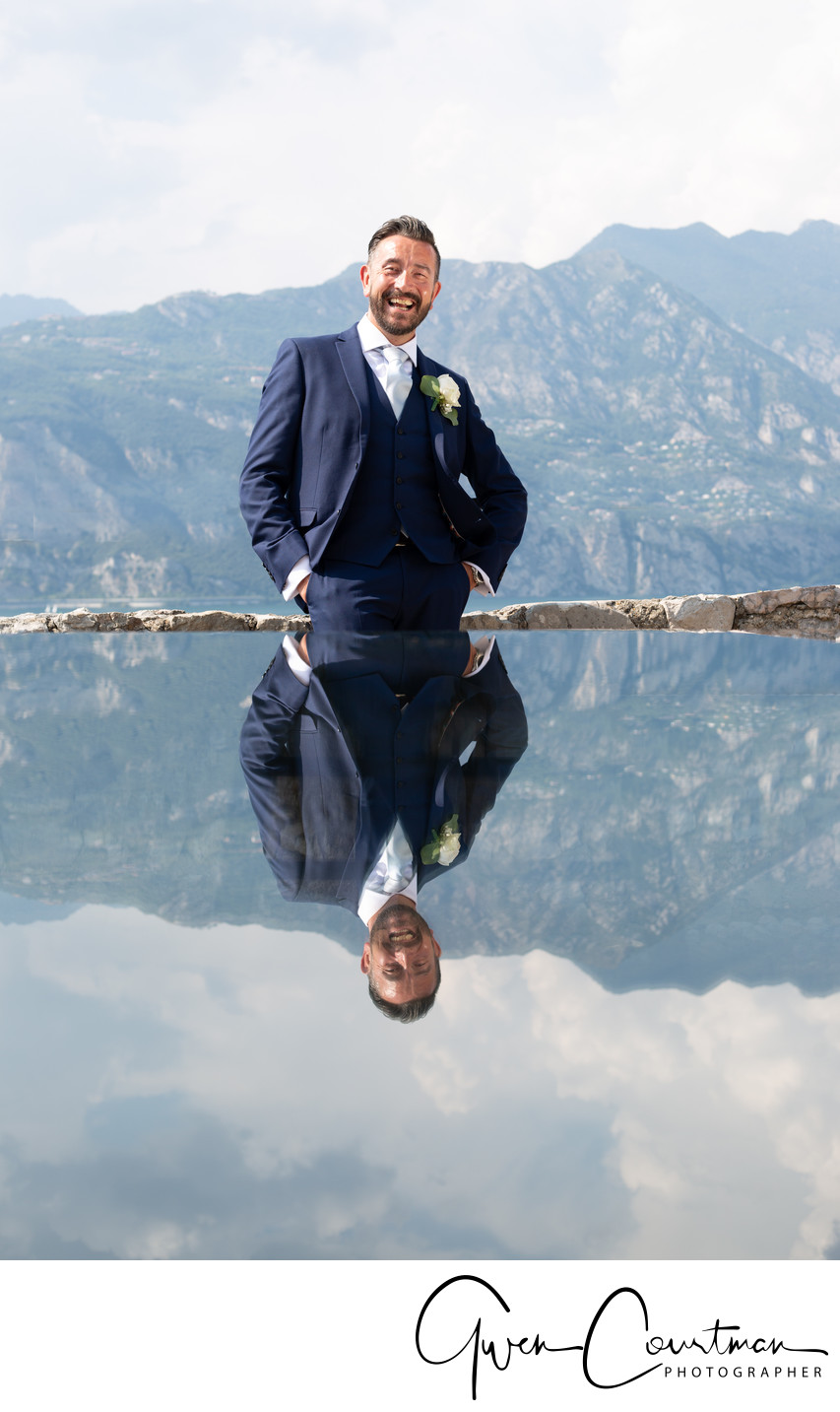 Wayne reflection in Malcesine Castle