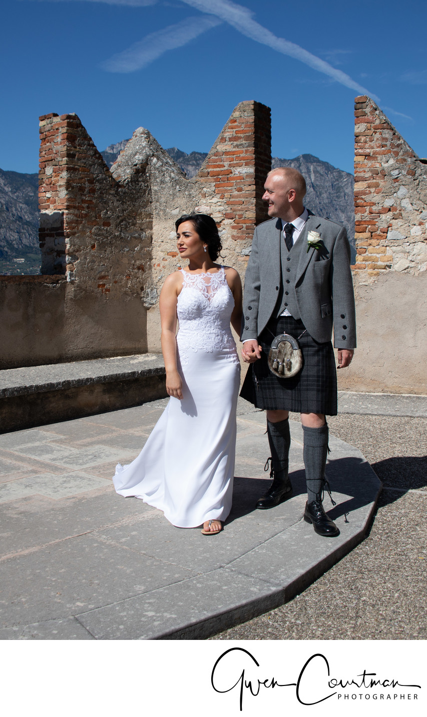Andy and Terren, Malcesine Castle, Lake Garda