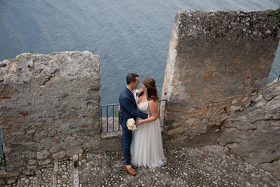 Kirsten and Justin, views from Malcesine Castle, Italy.
