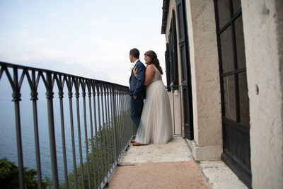 Justin and Kirsten, Balcony, Malcesine , Lake Garda, IT
