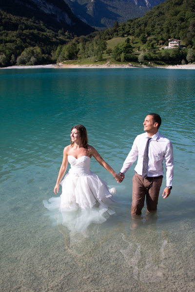 Romance in the lake Italy Lake Tenno