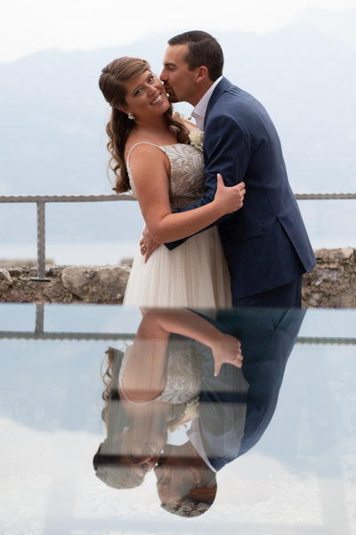 Justin and Kirsten, Malcesine Castle, Terrace, Italy