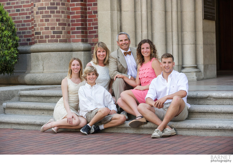 Family Portrait at USC Campus