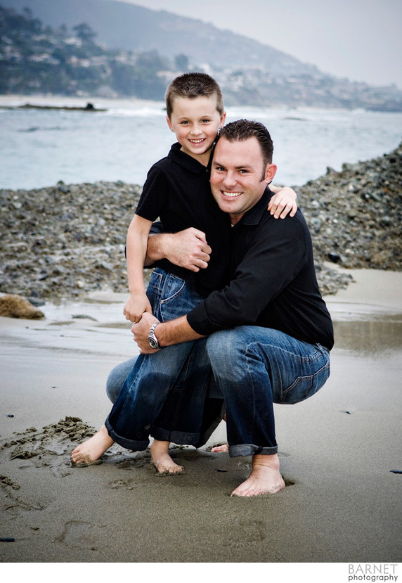 Father and Son Beach Portrait