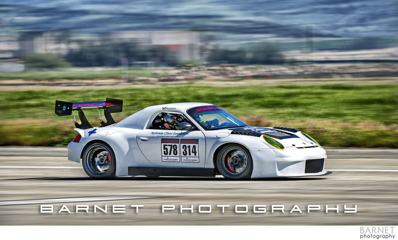 Modified Porsche Race Car with Wing