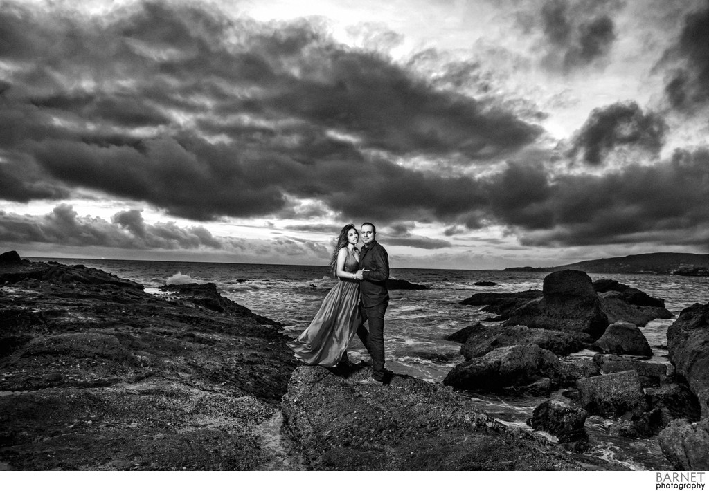 Dramatic Engagement Photography