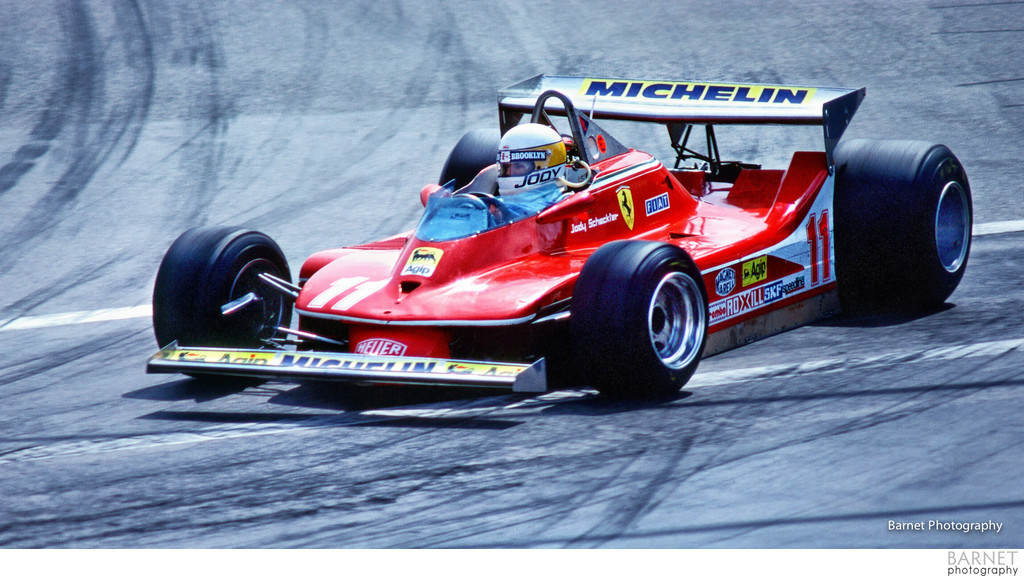 Jody Scheckter in his Ferrari
