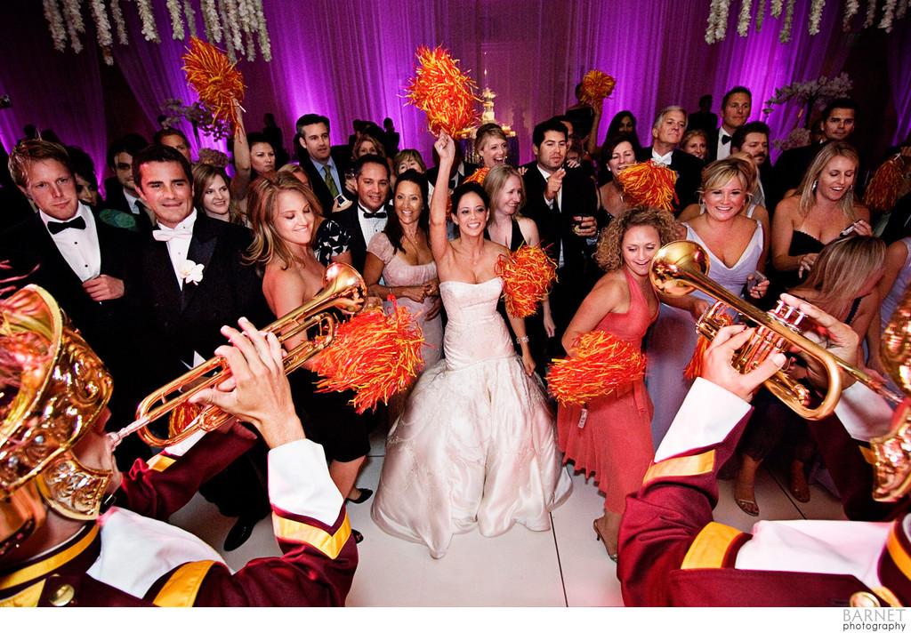 Memorable Reception Ideas: Bring in the Marching Band!