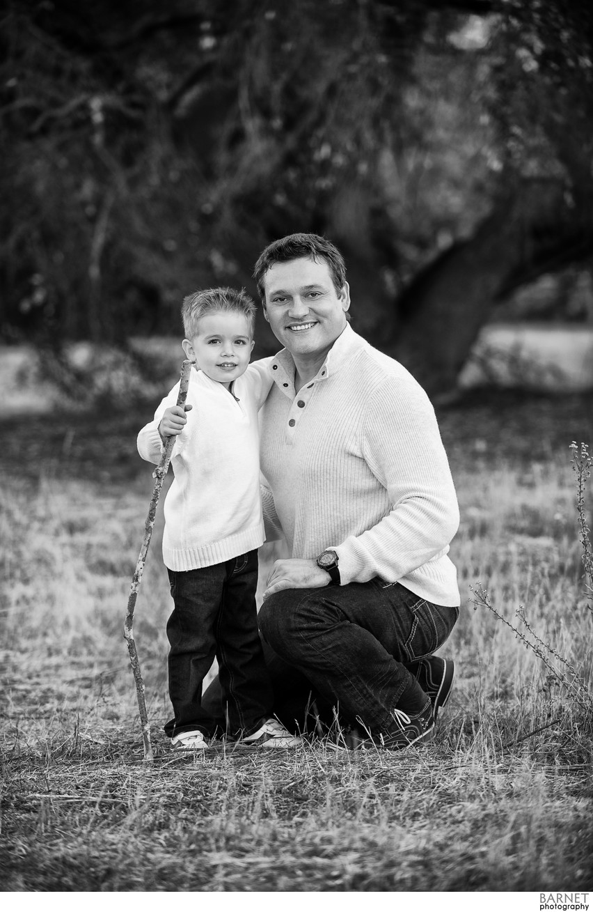 Father and son environmental portrait photography