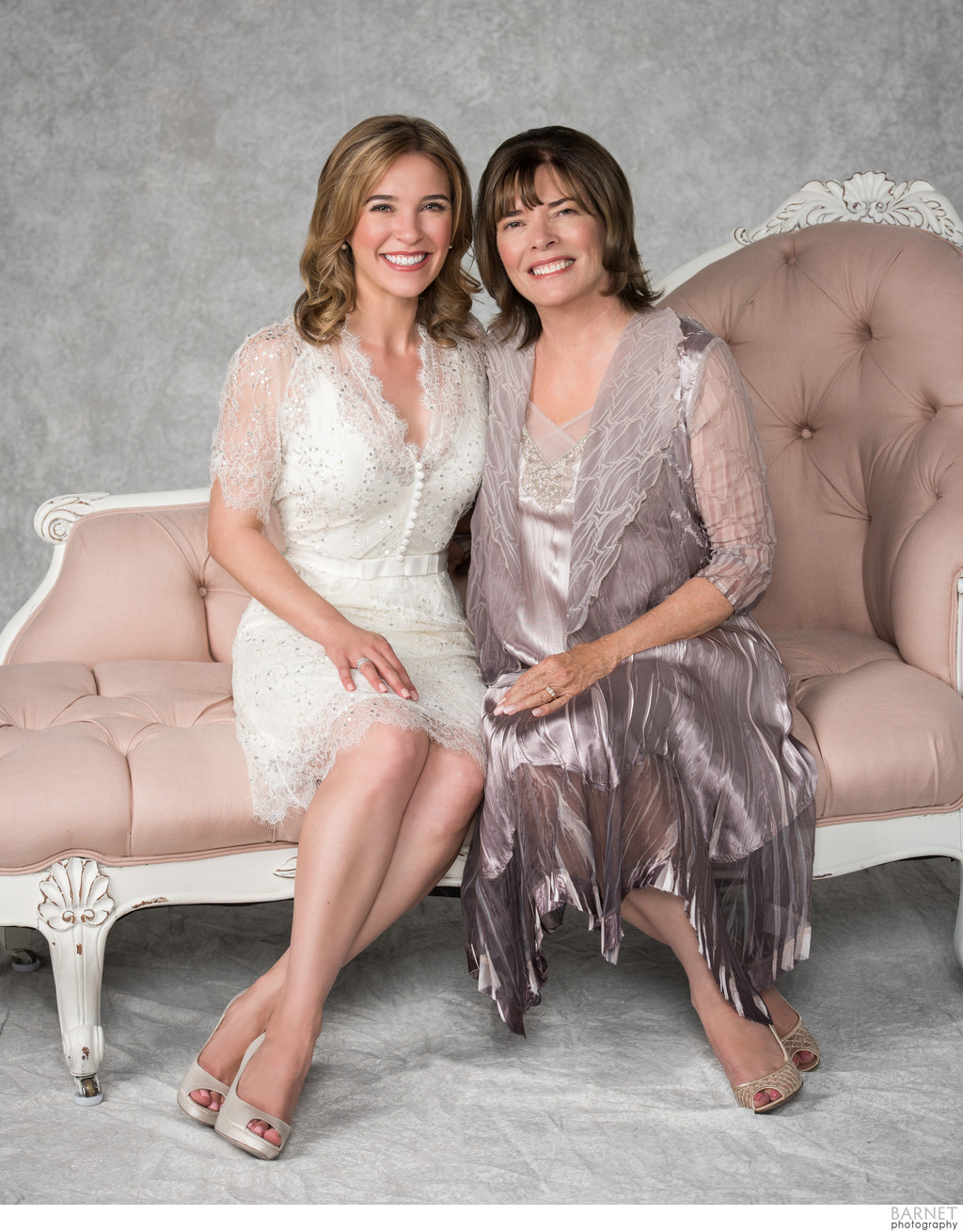 Mom and Daughter Formal Studio Portrait Costa Mesa