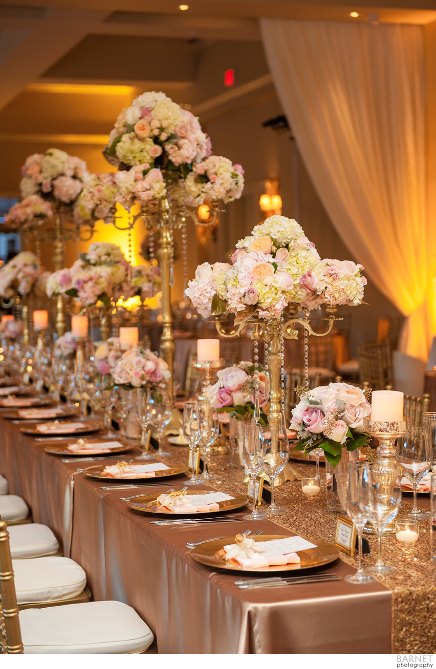Radiant and Elegant Wedding Reception Decor