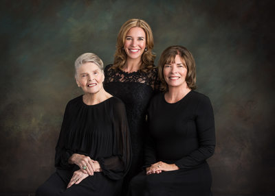 Three Generations Studio Family Portrait