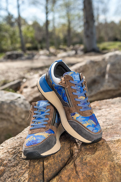 Outdoor athletic footwear photography