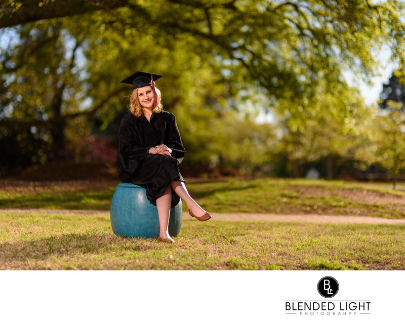 Wake Forest senior photography at Southeastern Seminary