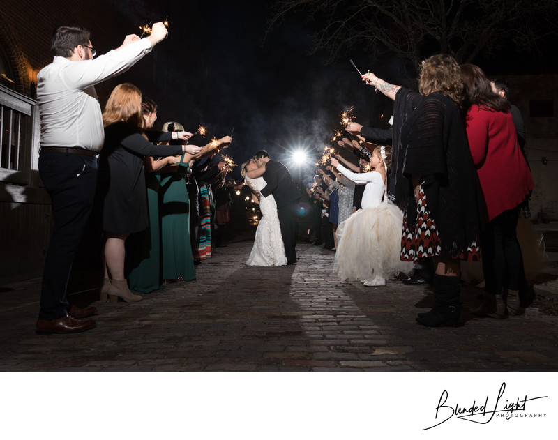 Fantastic Wedding Sparkler exit Photography