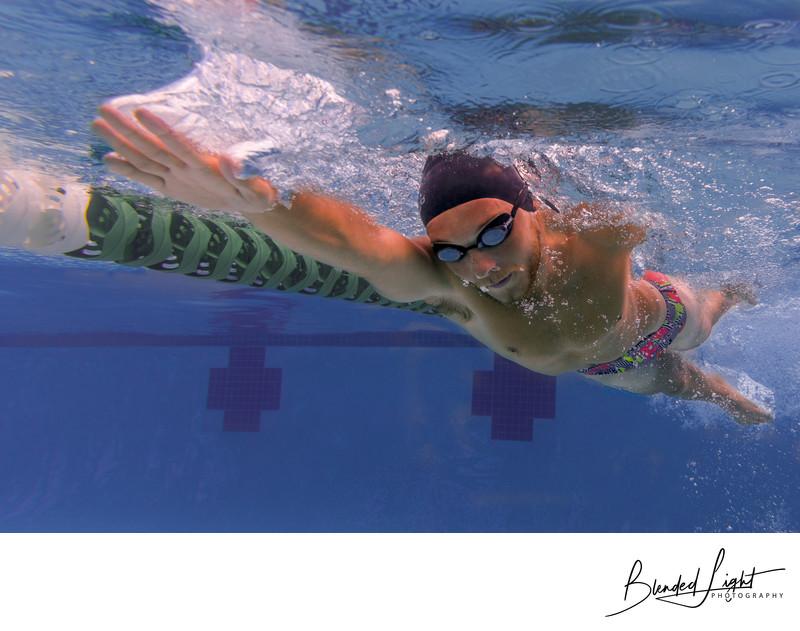 Raleigh Underwater Senior Photography