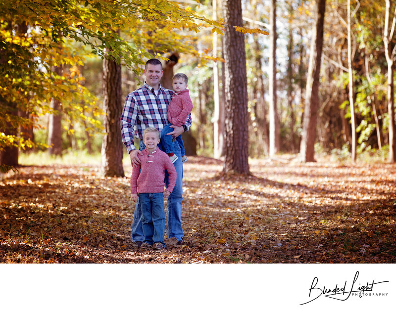 Fall family portrait session in Greenville NC