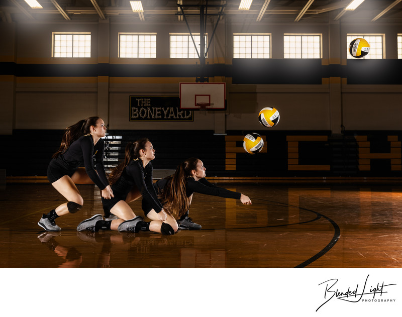Senior volleyball player sports image composite