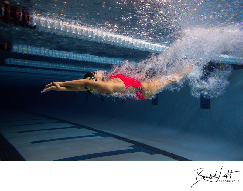 Backstroke turn underwater off the wall with VA Swimmer
