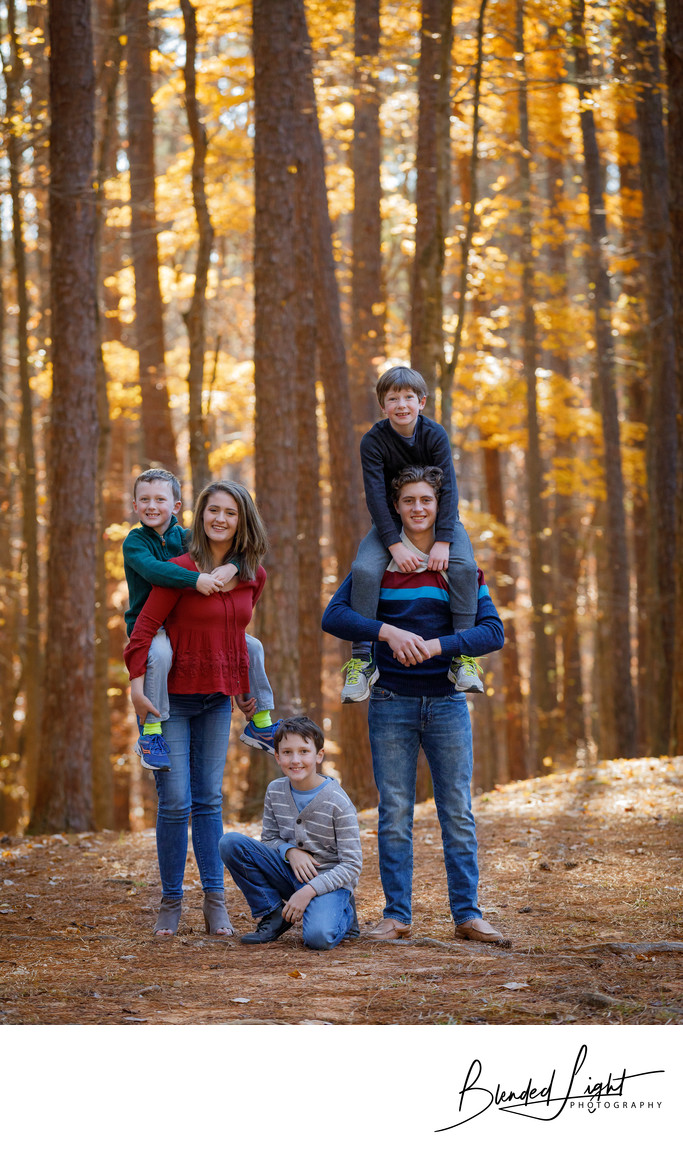 Durham Outdoor Family Portrait Image