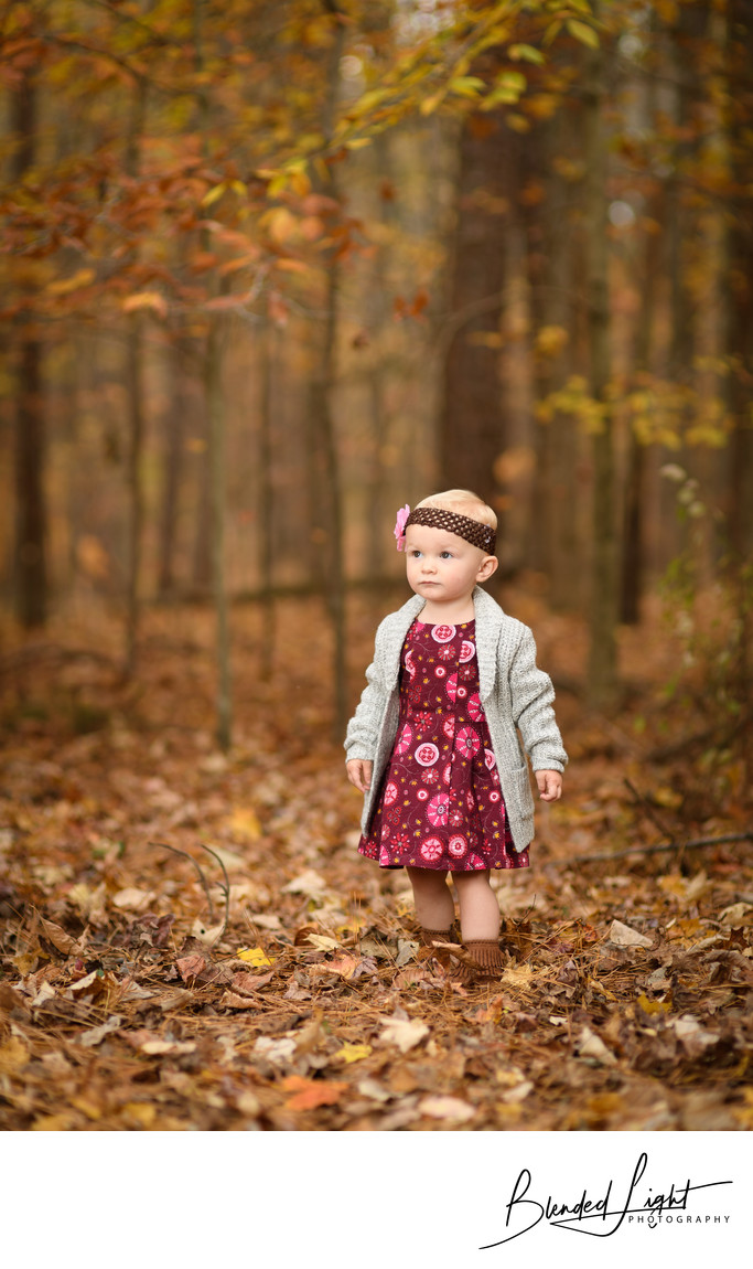 Umstead Park Fall Childrens Portrait Photographer