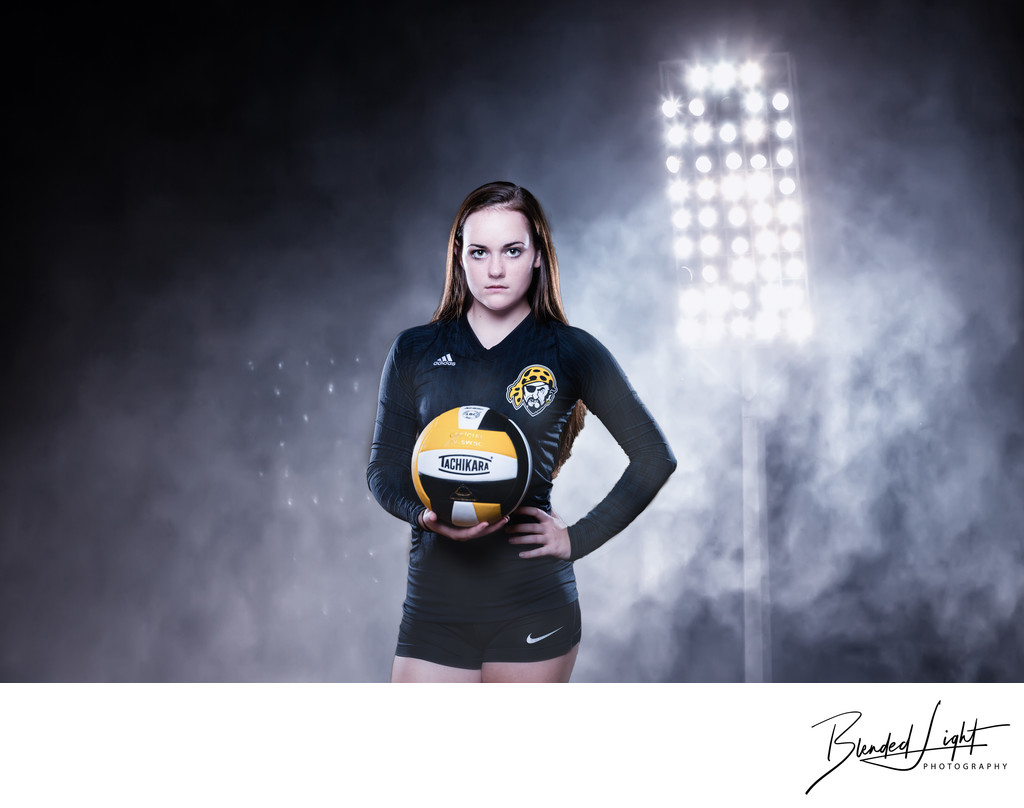 High School Senior Volleyball Player Portrait