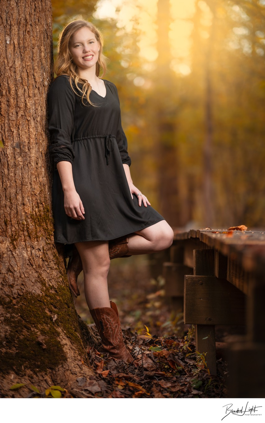 Late Afternoon Cary NC High School Senior Image